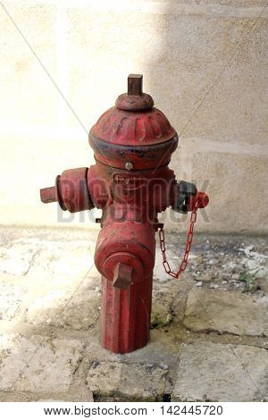 a close up    of a fire hydrant