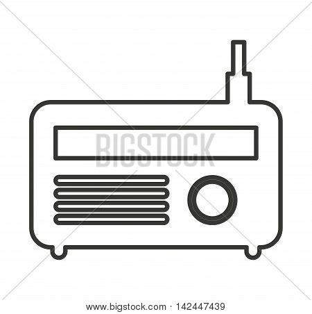 radio antena silhouette icon vector illustration design