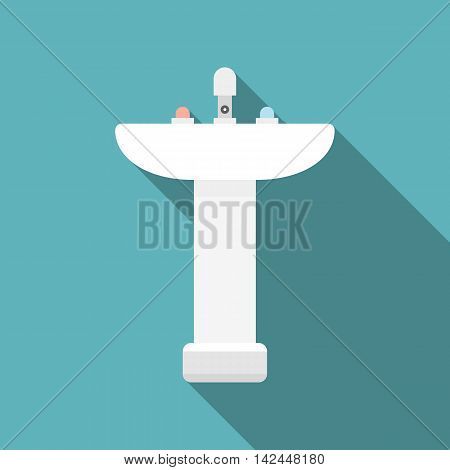 Vector sink, flat design with long shadow