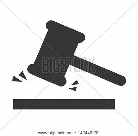 gavel hammer isolated icon vector illustration design