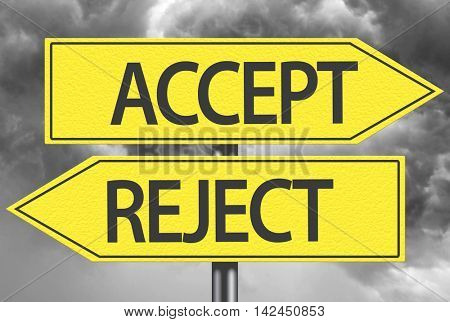Accept x Reject yellow