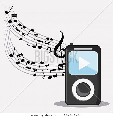 mp3 music note sound media festival icon. Flat and colorful illustration
