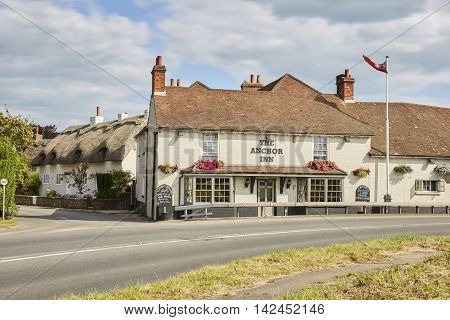 August 2016, Sidlesham, West Sussex UK, The Anchor Inn Sidlesham West Sussex,