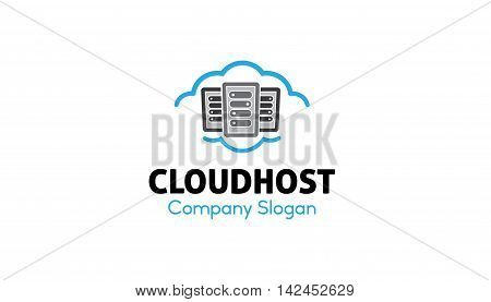 Cloud Host Symbolic Creative Logo Design Illustration