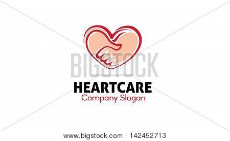 Heart Care Logo Creative Symbolic Design Illustration