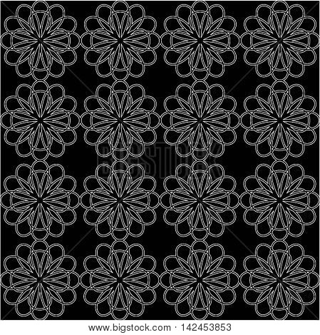 Abstract floral pattern. Seamless pattern with flowers daisies. Floral backgroun