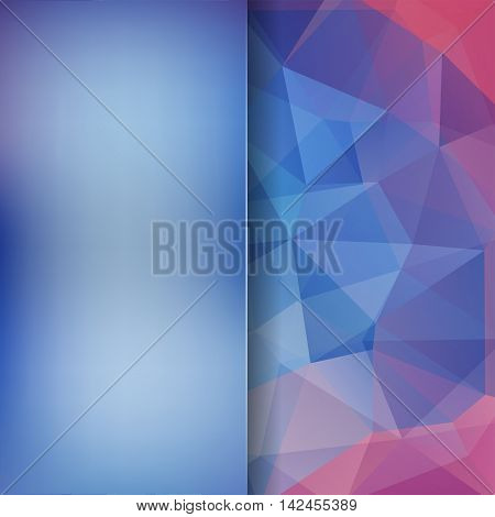 Abstract Geometric Style Blue Background. Blur Background With Glass. Vector Illustration