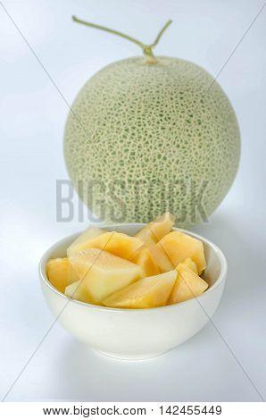 Cut Cantaloupe Melon