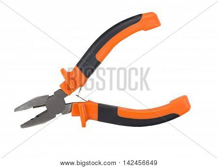 the Pliers isolated on the white background