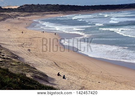 Cronulla beach (Sydney, Australia) on a stormy day in winter time.