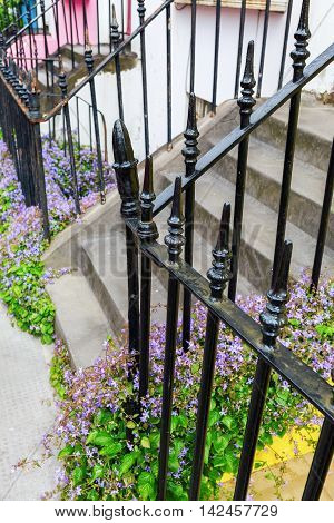Typical Wrought Iron Fence In Notting Hill, London