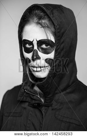 Portrait Of Woman With Scary Makeup