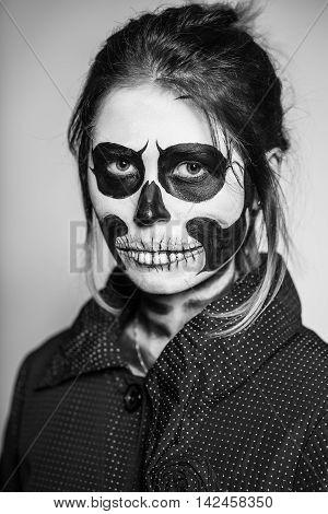 Woman Painted Like A Corpse