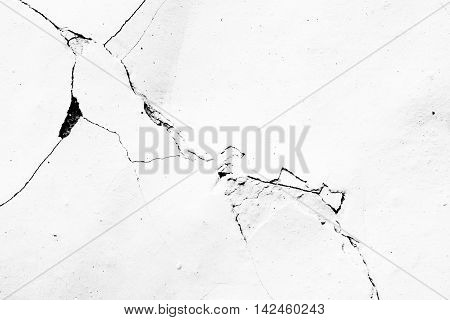 Cracks in plaster - grunge texture - layer for photo editor