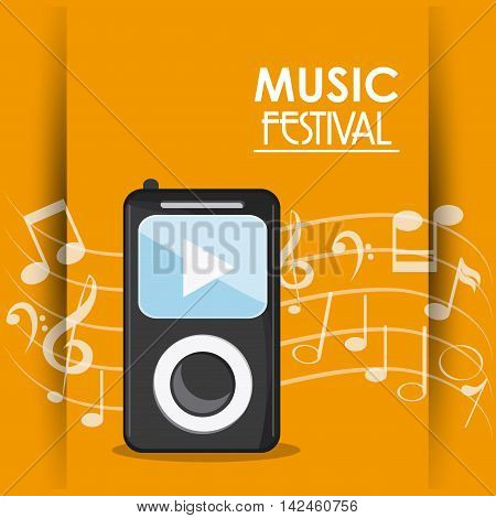 mp3 music note sound media festival icon. Colorfull illustration. Vector graphic