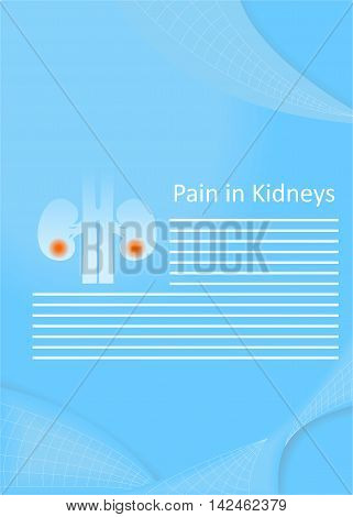 illustration on the theme of medicine - pain in the kidneys.