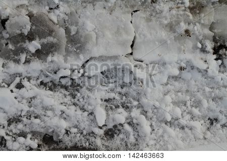 tracks in the snow bank grunge grim texture map