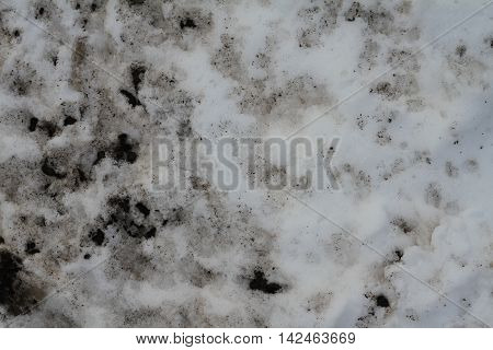 dirty spots in a snow bank grunge grim texture map