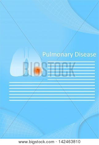 illustration on the theme of medicine - the pulmonary disease.