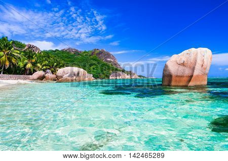Most beautiful tropical beach - Anse source d'argent in La digue island
