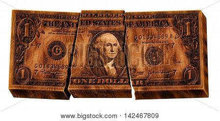 Broken Wooden Dollar