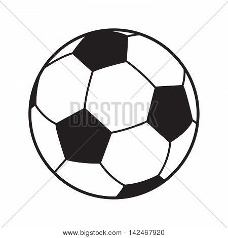 Soccer ball isolated on white background. Football label. Soccer ball icon for Art, Print, web design. Sport Championship soccer vector illustration 2016.