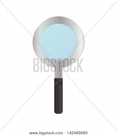 lupe magnifying glass search icon. Isolated and flat vecctor illustration