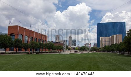 Picture shows the city Indianapolis in Indiana, USA
