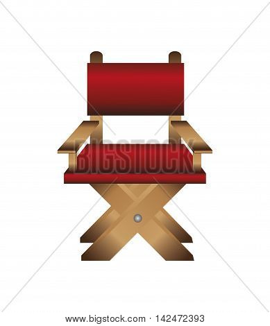 flat design director chair icon vector illustration