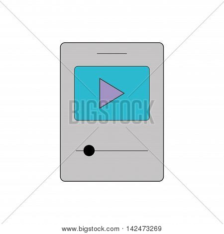 music mp3 play sound melody icon. Isolated and flat illustration