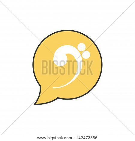 music note bubble sound melody icon. Isolated and flat illustration