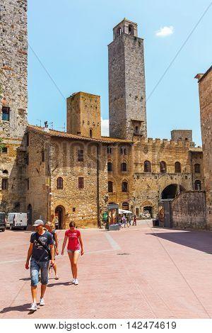 Town Center Of San Gimignano, Tuscany, Italy