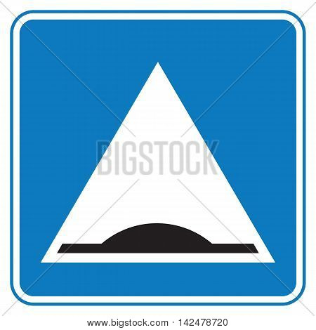 Traffic sign warning about speed bump. Road sign. Vector illustration.