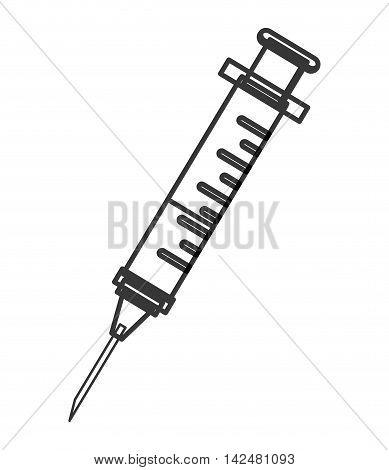 flat design syringe half full icon vector illustration