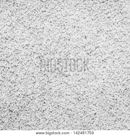 Carpet texture. White carpet background close up.