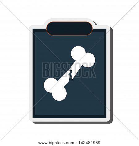 flat design single x-ray icon vector illustration