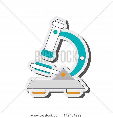 flat design detailed microscope icon vector illustration