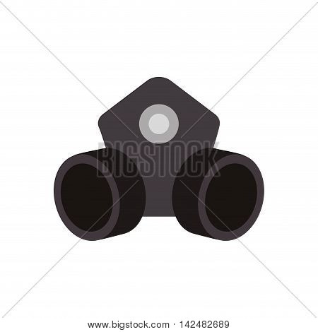 mask industrial security safety icon. Isolated and flat illustration