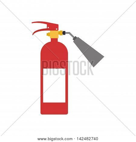 extinguisher industrial security safety icon. Isolated and flat illustration