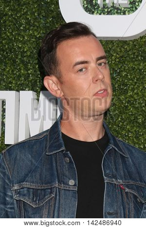 LOS ANGELES - AUG 10:  Colin Hanks at the CBS, CW, Showtime Summer 2016 TCA Party at the Pacific Design Center on August 10, 2016 in West Hollywood, CA