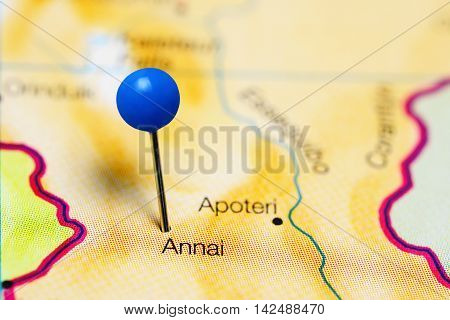 Annai pinned on a map of Guyana