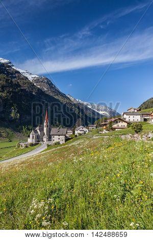 Village Of Riva Di Tures
