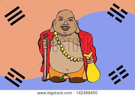 Buddha God Illustration
