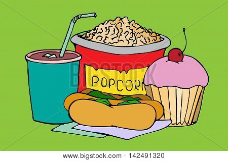 Popcorn, Soda Takeaway.