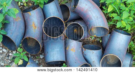 Corner Metal Pipes