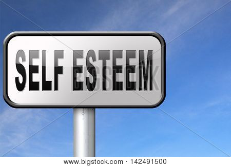 Self esteem or respect confidence and pride psychology 3D illustration