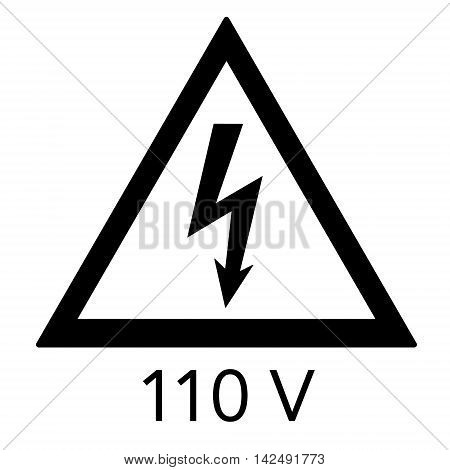 High Voltage Sign. Danger Symbol.
