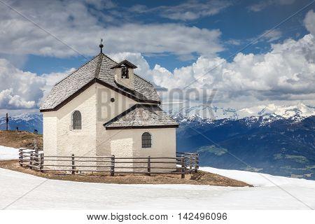Chapel On The Kronplatz  Above Brunico, South Tyrol