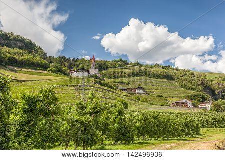 Landscape Near Klausen, South Tyrol