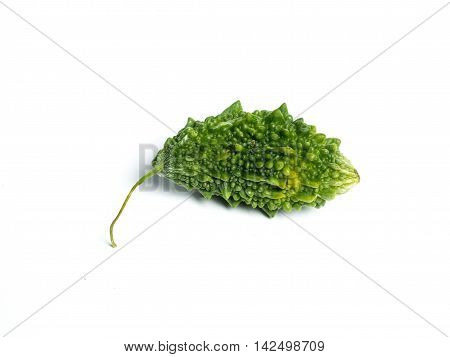 Bitter Melon & balsam pear. Momordica charantia fruits isolated on white background